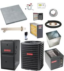 UP-FLOW_MOST COMPLETE 96% 120k btu Gas Furnace & 3 Ton 13 SEER AC + EXTRAS