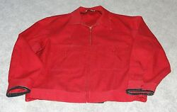 Vintage Anheuser Busch Budweiser Clydesdale Employee Wool Jacket Coat Size 48