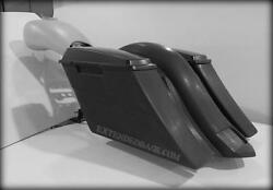 Harley Extended Stretched Saddlebags And Rear Fender Black Death 2009-2013
