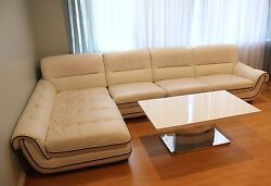 Modern White Coffee Table, Couch, And Dining Room Chairs + Tv - Bundle
