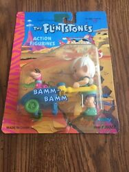 Flintstones Action Figurines Bamm-bamm With Dino New  50322 Dated 1992