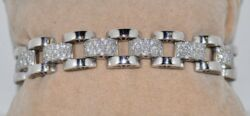 4.30CT DIAMOND BRACELET-MADE IN ITALY-18KT WHITE GOLD