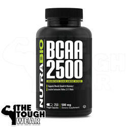 Nutrabio - Bcaa 2500 250caps -branch Chain Amino Acids- Muscle /growth /recovery