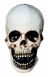 White Skull Mask With Hollowed Out Eyes And Open Mouth Halloween Distortions