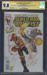 Power Man And Iron Fist 1__cgc 9.8 Ss__signed By Cast Of Luke Cage - Netflix