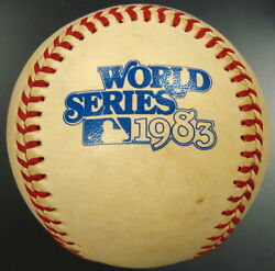 1983 World Series Game Used Baseball Phillies/orioles