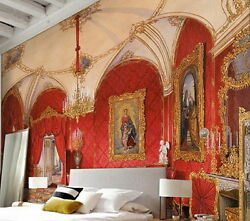 Classic Red Palace Wallpaper Wall Decals Wall Art Print Mural