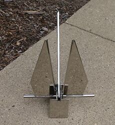 16.5 Lb 7.5 Kg 316 Stainless Steel Mirror Polished Fluke Style Boat Anchor