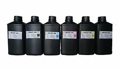 6x1000ml Premium Led Uv Curable Ink For Mimaki Jfx500-2131 Lh-100 Ink