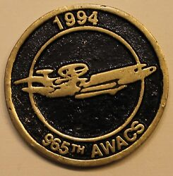 965th Airborne Warning And Control Sq Awacs Air Force Challenge Coin