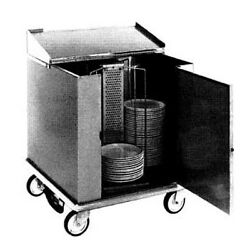 Carter-Hoffmann CD260 Dish Storage Cart with Dish Dividers & Rotary Design