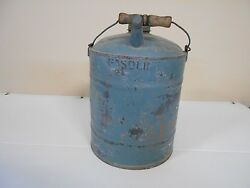 Antique 2 Gallon Gas Can With Old Blue Paint