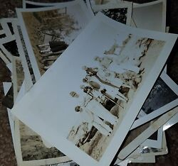 Vintage Black And White Photo Lot 65 Images Family Women Men Children Great Mix