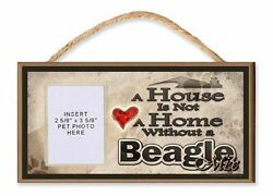 A House is Not a Home Without a Beagle Mix Dog Sign w Photo Insert by DGS