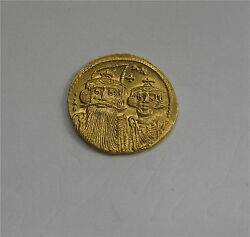 Byzantine Gold Coin Solidus Constans Ii Constantine Iv 641-668 Ad Mint State