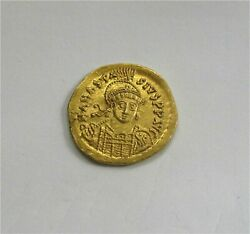 Byzantine Gold Coin Solidus Anastasius I 491-518 Ad Superb Mint State