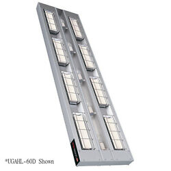 Hatco UGAHL-48D6 High Wattage Infrared Heat Lamp with Lights and 6