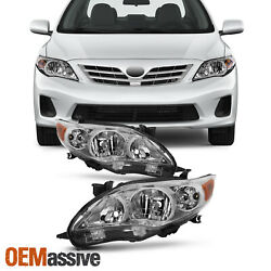 Fits 2011 2012 2013 Toyota Corolla Headlights Replacement Lamps Pair 11 12 13