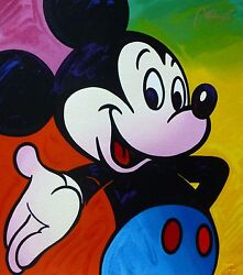 Peter Max Mickey Mouse Suite Ii Hand Signed Serigraph 1995 Disney