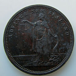 Penny Token Tn 46 1865-68 Advance New Zealand J.m. Merring And Co Nelson