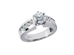 Natural 1.50ct Round Cut Diamond Engagement Ring Solid 18kt Gold G Si1