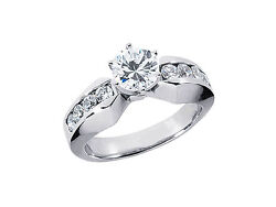 Natural 1.10ct Round Diamond Engagement Ring Solid 18k Rose White Yellow Gold