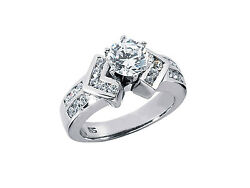 Genuine 1.10ct Round Cut Diamond Engagement Ring Solid 14k Gold Gh Si1