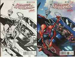 Amazing Spiderman 17 Humberto Ramos Fan Expo Stan Lee Variant Set Color And Sketch