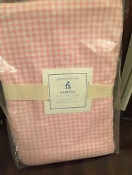 Pottery Barn Kids Gingham Sabrina Toy Chest Liner Pink Gingham Girl New