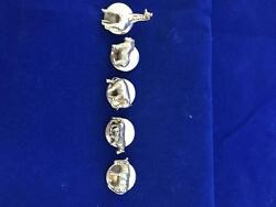 Susan Cummings Vintage Sterling Silver 3d African Animals Button Covers 150