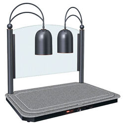 Hatco Dcsb400-2420-1 Decorative Carving Station W/ 2 Heat Lamps And Cutting Board