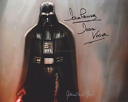 James Earl Jones And Dave Prowse Hand Signed 8x10 Photo Star Wars Darth Vadar