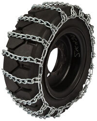 10x16.5 Skid Steer Tire Chains 8mm 2-link Spacing Loader Bobcat Traction