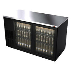 Fagor Fbb-59g 59.5 Refrigerated Back Bar Cabinet With 2 Glass Doors