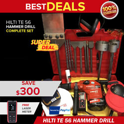 Hilti Te 56 Preowned Free Laser Meter Set Of Bits A Lot Of Extras Fast Ship