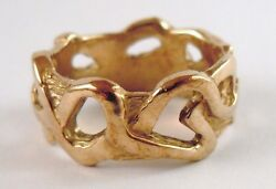 100 Genuine 375 9k Solid Yellow Gold Hand Made Ring Sz 6 Usa