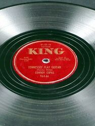 King 964 Cowboy Copas Tennessee Flat Guitar / I Love You My Darling 78 E-