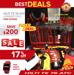 Hilti Te 76-atc Hammer Drill, Preowned, Free Smart Watch, Extras, Fast Ship