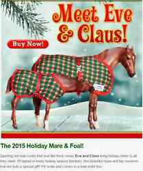 BREYER HOLIDAY SR EVE AND CLAUS Thoroughbred MARE & NURSING FOAL GIFT SET 712165
