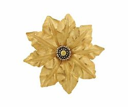 Buccellati 18K Tri Color Gold Large Flower Motif Brooch Pin $13320