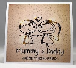 Wedding Invitations Personalised, Envelopes, Mummy And Daddy Are Getting Married