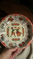 Vintage 1971 Daher Decorated Ware Colonial 10 Tin Metal Bowl England Round Tray