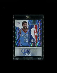 2009-10 James Harden Logoman Exquisite National Treasures RC Lot 11 Patch Auto