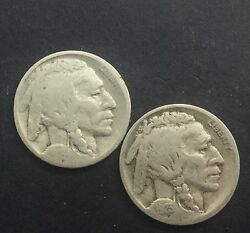 Buffalo Nickels 2 Better Date Collectors Coins 1919 D 1923 S