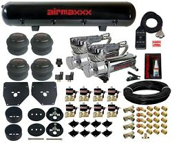 3/8 Valves Blk 7 Switch Bags Tank 580 Air Ride Suspension Kit For 1963-72 C10