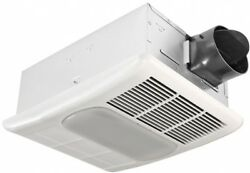 Exhaust Fan Bathroom Ceiling Light 10.5 Watt Heater Quiet Bath Ventilation Heat