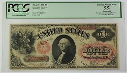 1878 1 Legal Tender Note Fr. 27 Pcgs Choice About New 55 Apparent Ww