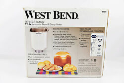 Brand New West Bend 1.5 Lb Homestyle Automatic Bread And Dough Maker