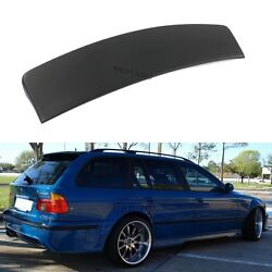 Rear Trunk Spoiler Tailgate Lid Lip Wing Ducktail Apron Fits Bmw E39 Touring