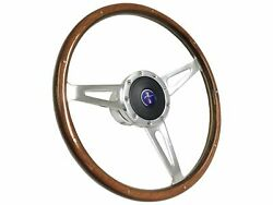 1968 - 1978 Ford Mustang Shelby Style Steering Wheel Kit   Pony 3-d Foil Emblem